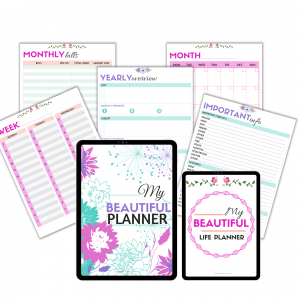 Free printable life planner for homemakers