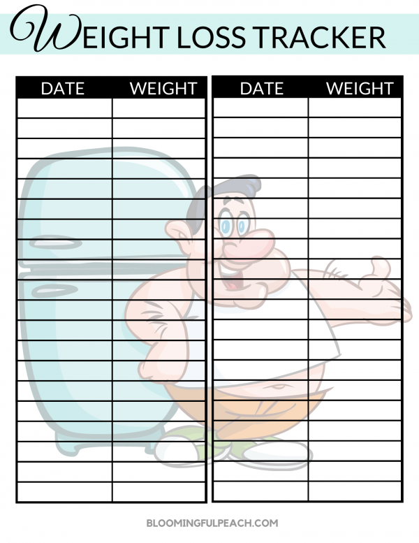 WEIGHT LOSS TRACKER MALE
