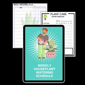 weekly plant watering schedule printable